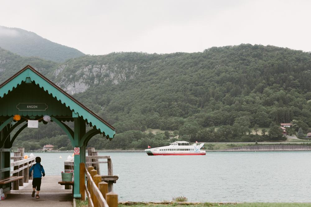 mariage sur le lac d'annecy, bateau le cygne