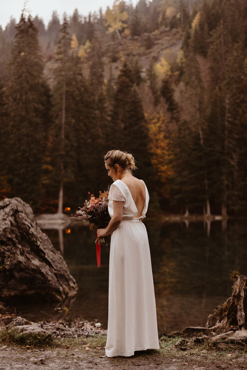shooting d'inspiration lac vert passy mariage