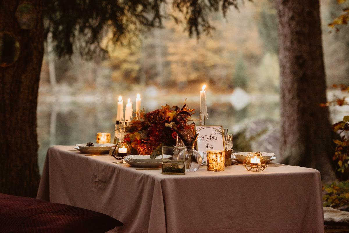 table des mariés décoration florale haute savoie